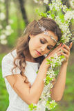 Beautiful Spring Girl Stock Image