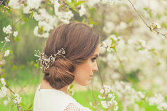 Beautiful Spring Girl Stock Photography