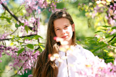 Beautiful spring girl Royalty Free Stock Photography