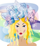 Beautiful spring girl in spa Royalty Free Stock Photo