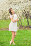 Beautiful Spring Girl Stock Images