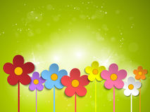 Beautiful Spring Green Flowers Background Royalty Free Stock Image