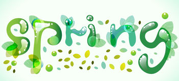 Beautiful Spring illustration Royalty Free Stock Images