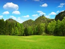 Beautiful spring landscape in Bohemian Switzerland. Beautiful spring landscape in Bohemian Switzerland, Czech Republic Stock Images
