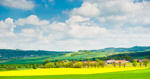 Beautiful spring landscape, Czech Republic Stock Photography
