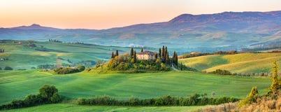 Tuscany landscape at spring stock image