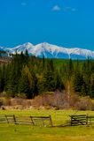 Beautiful spring landscape of the Western Sayan mountains Royalty Free Stock Image