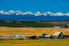 Beautiful spring landscape of the Western Sayan mountains Stock Images