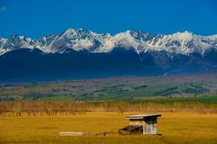 Beautiful spring landscape of the Western Sayan mountains Stock Image