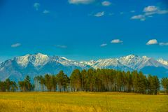Beautiful spring landscape of the Western Sayan mountains Stock Photography