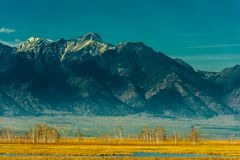 Beautiful spring landscape of the Western Sayan mountains Royalty Free Stock Photography