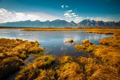 Beautiful spring landscape of the Western Sayan mountains Royalty Free Stock Images