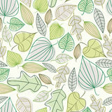 Beautiful spring leaves seamless pattern. Royalty Free Stock Photography