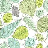 Beautiful spring leaves seamless pattern. Royalty Free Stock Photo