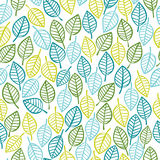 Beautiful spring leaves seamless pattern. Stock Photography