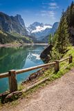 Beautiful spring at mountain lake in Gosau, Alps, Austria. Europe Royalty Free Stock Images