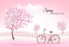 Beautiful spring nature background royalty free illustration