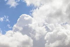 Beautiful spring sky. Clouds and blue sky day royalty free stock photo