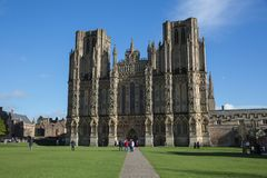 Wells Cathedral Somerset in beautiful spring weather Stock Photos