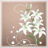 Beautiful spring wallpaper with lily flowers Stock Images