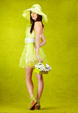 Beautiful spring woman Royalty Free Stock Photo