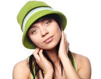 Beautiful spring-woman Royalty Free Stock Photography