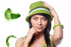 Beautiful spring-woman Stock Photo