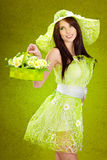 Beautiful spring woman Royalty Free Stock Image