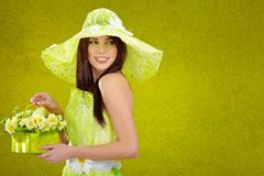 Beautiful spring woman Stock Image