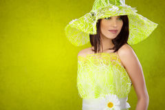 Beautiful spring woman Stock Image
