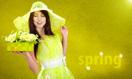 Beautiful spring woman Stock Photo