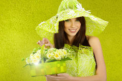 Beautiful spring woman Stock Photography