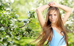 Beautiful spring woman Royalty Free Stock Photos