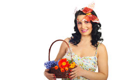 Beautiful spring woman model Royalty Free Stock Photos
