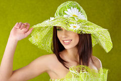 Beautiful spring woman portrait Stock Photo