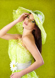 Beautiful spring woman portrait Royalty Free Stock Images