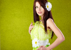 Beautiful spring woman portrait Stock Image