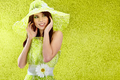 Beautiful spring woman portrait. stock images