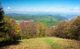 Springtime on carpathian mountains Royalty Free Stock Images