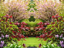 Beautiful Springtime Garden Royalty Free Stock Photos