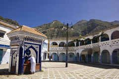 Beautiful square at Chefchaouen. Morocco Stock Image