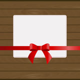 Beautiful square frame against the wall of wooden planks Stock Image