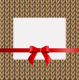Beautiful square frame on the background of a knit sweater royalty free illustration