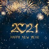 Beautiful Square Greeting card Happy New Year 2021