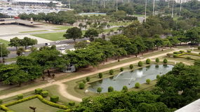 Beautiful square. A landscape of a square named Paris Square, iat Rio de Janeiro, Brazil Stock Images