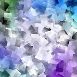 Beautiful squared pattern with overlapping squares Stock Image