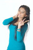 Beautiful srilankan cute teen Royalty Free Stock Photo