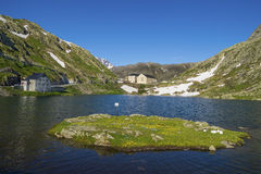 Beautiful  St. Bernard Pass, Switzerland Royalty Free Stock Photo