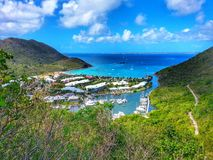 Beautiful st. Maarten magical Bay Royalty Free Stock Photography