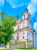 The famous Church at Skalka in Krakow, Poland stock photos